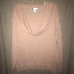 Nine & Co. Blush Cowl Neck Long Sweater